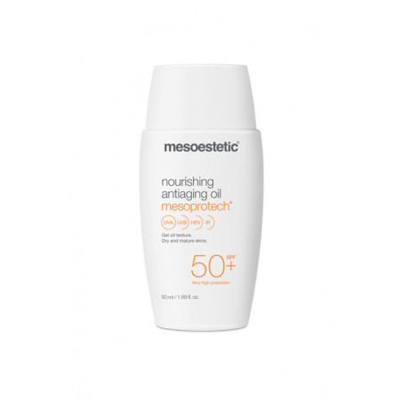 Home Performance Protección Solar. Mesoprotech Nourishing Antiaging Oil 50+ - MESOESTETIC