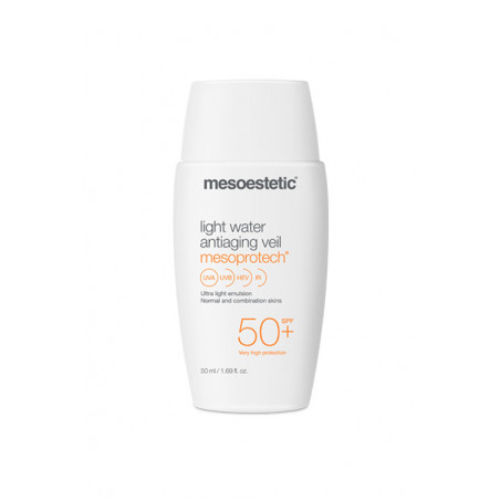 Home Performance Protección Solar. Mesoprotech Light Water Antiaging Veil 50+ - MESOESTETIC