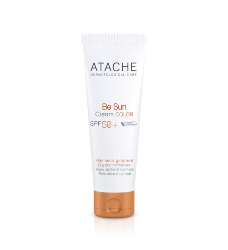 Be Sun. SPF50+ Crema protectora facial con color - ATACHE