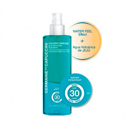 Golden Caresse. Blue Protective Oil & Water SPF30 - GERMAINE DE CAPUCCINI