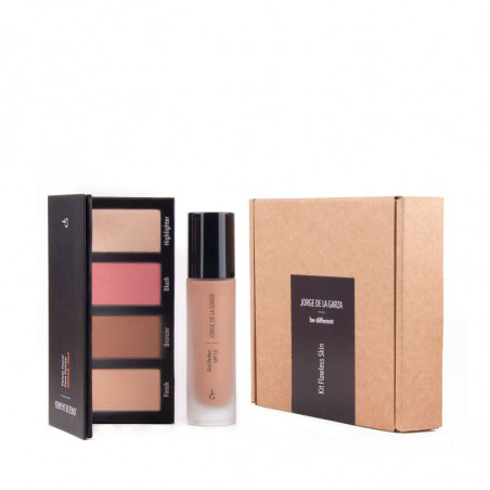 Kit Flawless Skin. Face Palette + Skin Perfect Make Up - JORGE DE LA GARZA