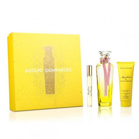 Set de Agua Fresca de Mimosa Eau de Toilette con vaporizador + minitalla y body milk – Adolfo Domínguez