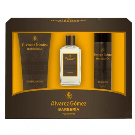 Set 3 piezas Barberia Eau de Parfum con vaporizador +Gel + Desodorante - Alvarez Gomez