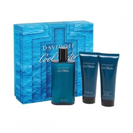 Set Cool Water Eau de Toilette con vaporizador . After Shave y Gel– Davidoff