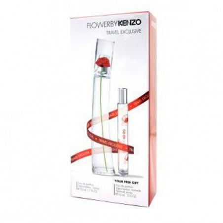 Estuche Travel Set Flower Eau de Parfum con vaporizador + mini talla – Kenzo