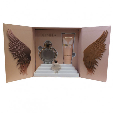 Set Olympea Eau de parfum con vaporizador + body milk – Paco Rabanne