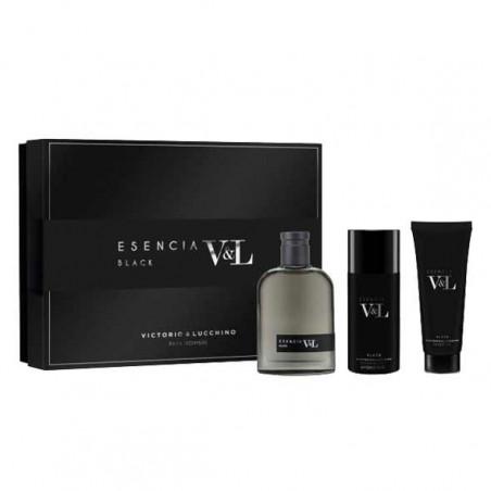 Set Esencia Black Eau de Toilette con vaporizador- Victorio&Lucchino