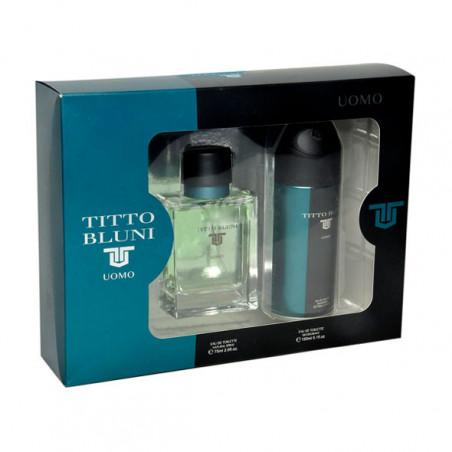 Estuche Titto Bluni Uomo Eau de Toilette con vaporizador+ deodorante vaporizador – De Ruy