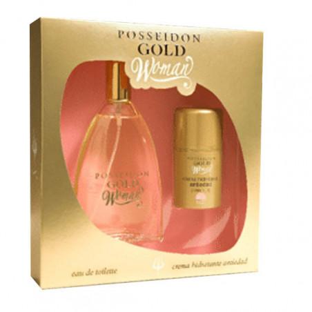 Estuche Poseidon Gold Woman Eau de Toilette con vaporizador- Instituto Español