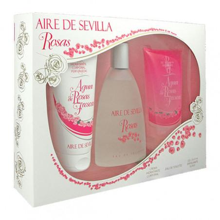 Estuche 3 piezas Rosas Eau de Toilette - Aire de Sevilla