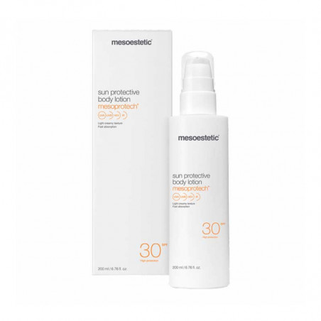 Home Performance Protección Solar. Mesoprotech Sun Protective Body Lotion 30+ - MESOESTETIC