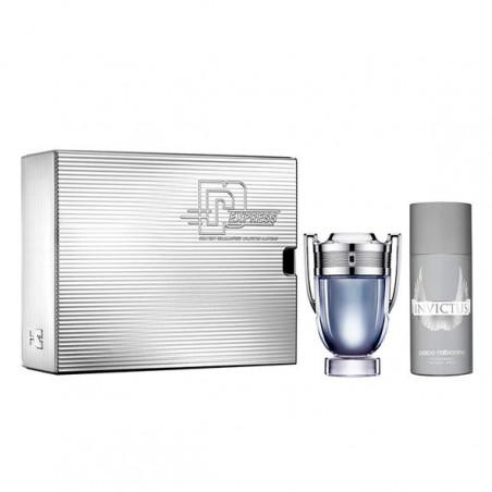 Set Invictus Eau de Toilette 100 ml con Desodorante 150 ml  – Paco Rabanne