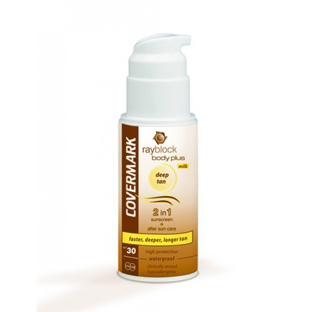Rayblock. Body Plus Deep Tan Milk - COVERMARK