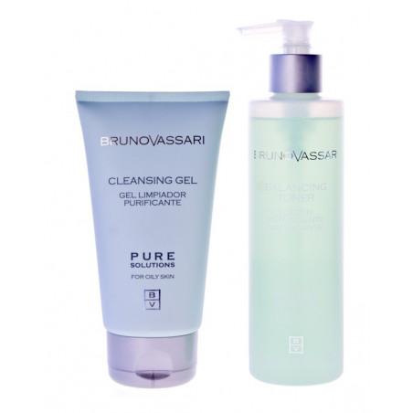 Pure Solutions. Pack higiene facial piel grasa - BRUNO VASSARI