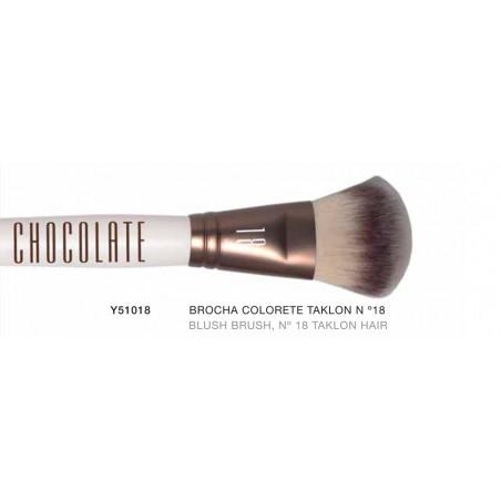 Chocolate. Brocha Colorete pelo Taklon Nº18 - NOVARA