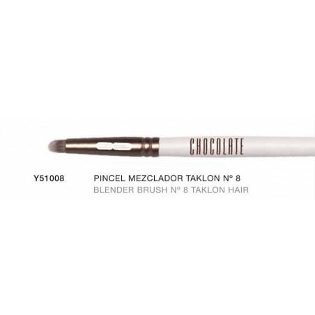 Chocolate. Pincel especial para mezclar efecto Blender con pelo de Taklon nº8  - NOVARA