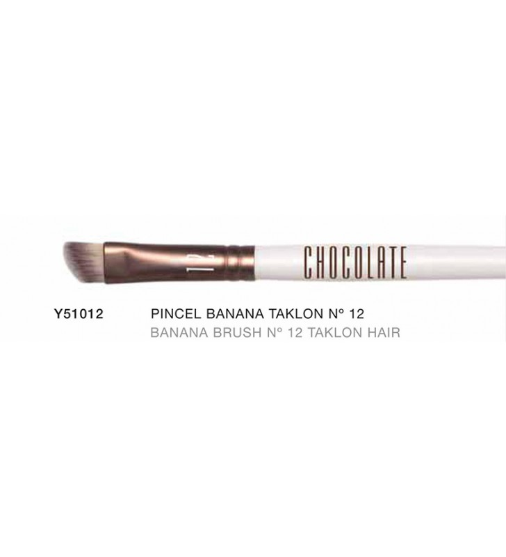 Chocolate. Pincel Banana Brush especial con pelo de Taklon nº12 Y51012