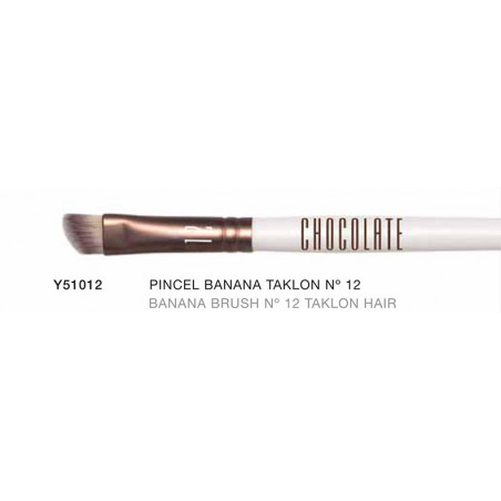 Chocolate. Pincel Banana Brush especial con pelo de Taklon nº12 - NOVARA