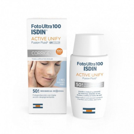 Foto Ultra. 100 Active Unify Fusion Fluid SPF50+ - ISDIN