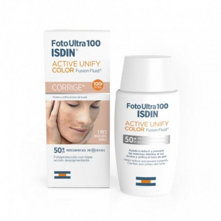 Foto Ultra. 100 Active Unify Color Fusion Fluid SPF50+ - ISDIN